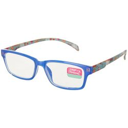 Leoma Lovegrove Womens Rectangle Printed Reading Glasses