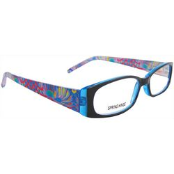 Womens Blue & Black Multi Half Reading Glasses