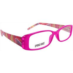 Bay Studio Womens Pink Multi Half Reading Glasses