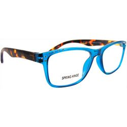 Bay Studio Womens Blue & Tortoise Brown Reading Glasses