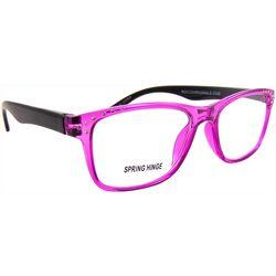 Bay Studio Womens Pink Multi Stud Reading Glasses