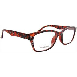 Bay Studio Womens Tortoise Brown Metal Stud Reading Glasses