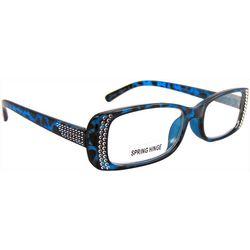 Bay Studio Womens Blue & Black Stud Reading Glasses