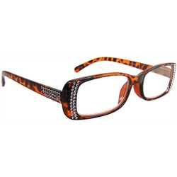 Bay Studio Womens Tortoise Brown Stud Reading Glasses