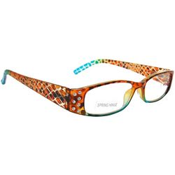 Bay Studio Womens Snakeskin Texture Reading Glasses