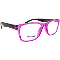Bay Studio Womens Rhinestones Purple Frames Reading Glasses