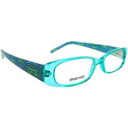 Bay Studio Womens Blue Print Reading Glasses