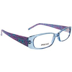 Bay Studio Womens Purple Print Reading Glasses