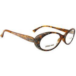 Bay Studio Womens Rhinestones Oval Reading Glasses