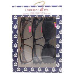 Caribbean Joe Womens Sailboat Sun & Reading Glasses Set