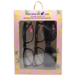 Caribbean Joe Womens Pineapple Sun & Reading Glasses