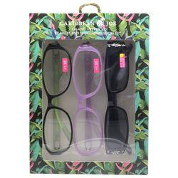 Caribbean Joe Womens Palm Tree Sun & Reading Glasses Set
