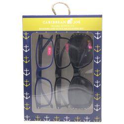 Caribbean Joe Womens Anchor Sun & Reading Glasses Set