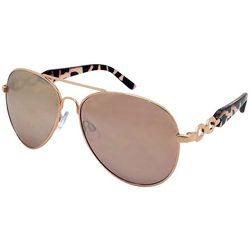 Caribbean Joe Womens Front Office Aviator Sunglasses