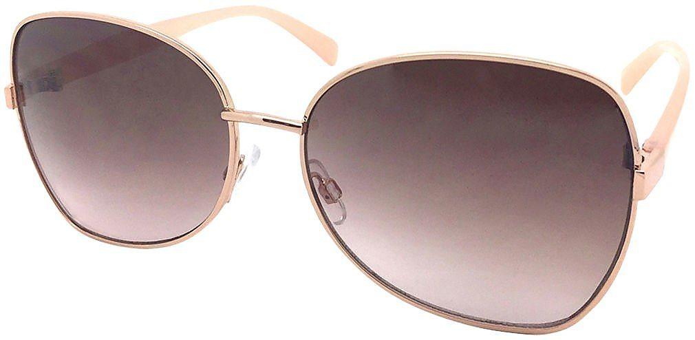 b31c7fb4bc Caribbean Joe Womens Smooth Operator Aviator Sunglasses One Size Rose gold  tone