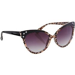 Womens Leopard Print Cat Eye Sunglasses
