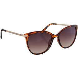 Caribbean Joe Womens Tortoiseshell Cateye Sunglasses