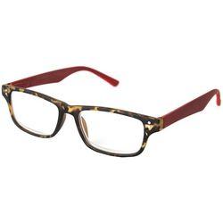 Optimum Womens Light Tortoise Brown & Red Reading Glasses