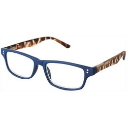 Optimum Womens Animal Print Blue Frames Reading Glasses