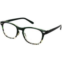 Optimum Womens Tortoise Green Reading Glasses
