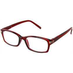 Optimum Womens Tortoise Red Reading Glasses