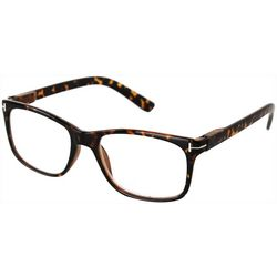 Optimum Womens Tortoise Brown Square Reading Glasses