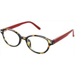 Optimum Womens Tortoise Brown Frames Red Reading Glasses