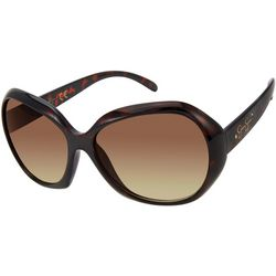 Jessica Simpson Womens Tortoise Brown Oversized Sunglasses