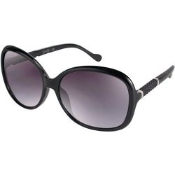 Jessica Simpson Womens Black Large Round Sunglasses