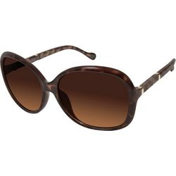 Jessica Simpson Womens Textured Tortoise Brown Sunglasses