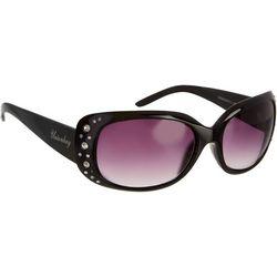 Unionbay Womens Rectangle Rhinestone Sunglasses