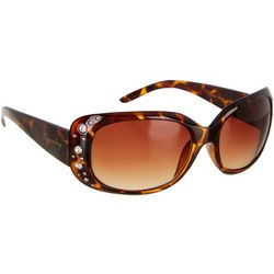 Unionbay Womens Rectangle Rhinestone Sunglasses