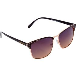 Southpole Womens Studded Clubmaster Sunglasses