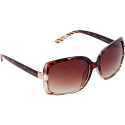 Tahari Womens Rectangle Ombre Sunglasses