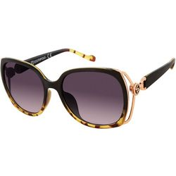 Southpole Womens Vented Tortoise Print Sunglasses