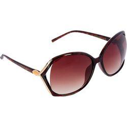 Tahari Womens Large Tortoise Vented Frame Sunglasses
