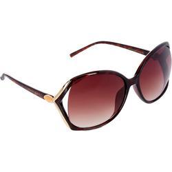 Womens Large Tortoise Vented Frame Sunglasses