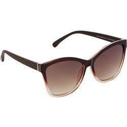 Jessica Simpson Womens Cat Eye Embossed Sunglasses