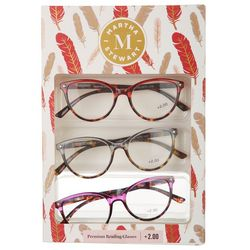 Martha Stewart Womens 3-pk. Premium Reading Glasses