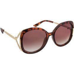 Jessica Simpson Womens Tortoise Brown Gold Tone Sunglasses