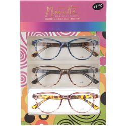 Nanette Lepore Womens 3-pk. Swirl Reading Glasses