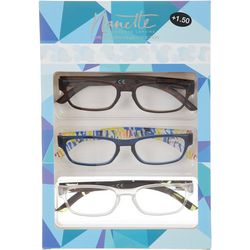 Nanette Lepore Womens 3-pk. Premium Reading Glasses