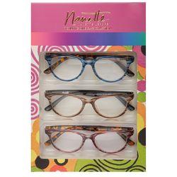 Nanette Lepore Womens 3-pk. Striped Reading Glasses