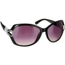 Womens Textured Arms Sunglasses
