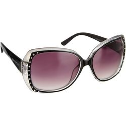 Southpole Womens Rhinestone Edge Sunglasses