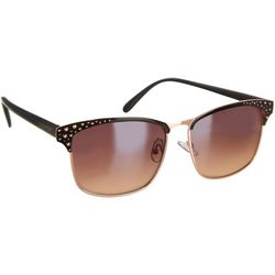 Southpole Womens Textured Metal Frame Sunglasses