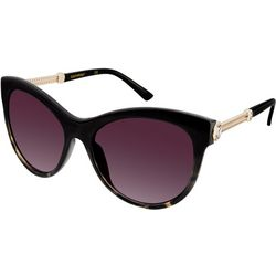 Southpole Womens Black Clear Stones Sunglasses