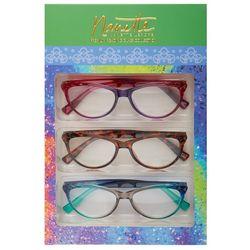 Nanette Lepore Womens 3-pk. Polished Reading Glasses