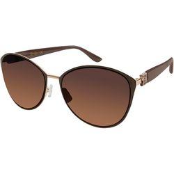 Jessica Simpson Womens Gold Tone Cat Eye Sunglasses