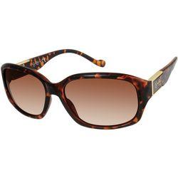 Jessica Simpson Womens Tortoise Brown Print Sunglasses